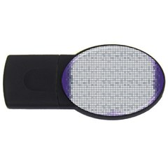 Purple Square Frame With Mosaic Pattern Usb Flash Drive Oval (4 Gb)