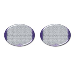 Purple Square Frame With Mosaic Pattern Cufflinks (oval)