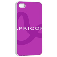 Zodiac Capricorn Purple Apple iPhone 4/4s Seamless Case (White)
