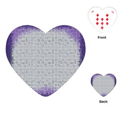 Purple Square Frame With Mosaic Pattern Playing Cards (Heart)