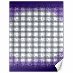 Purple Square Frame With Mosaic Pattern Canvas 18  x 24