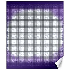 Purple Square Frame With Mosaic Pattern Canvas 20  x 24