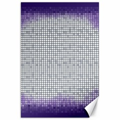 Purple Square Frame With Mosaic Pattern Canvas 20  X 30