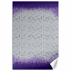 Purple Square Frame With Mosaic Pattern Canvas 24  X 36