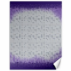 Purple Square Frame With Mosaic Pattern Canvas 36  X 48