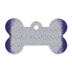 Purple Square Frame With Mosaic Pattern Dog Tag Bone (two Sides)
