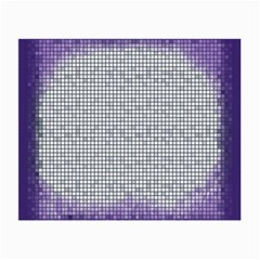 Purple Square Frame With Mosaic Pattern Small Glasses Cloth (2-Side)