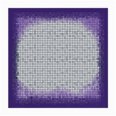 Purple Square Frame With Mosaic Pattern Medium Glasses Cloth (2-Side)