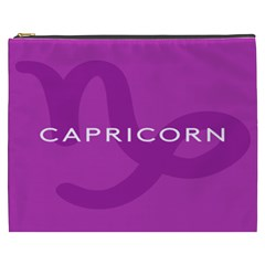 Zodiac Capricorn Purple Cosmetic Bag (XXXL)