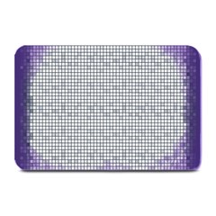 Purple Square Frame With Mosaic Pattern Plate Mats