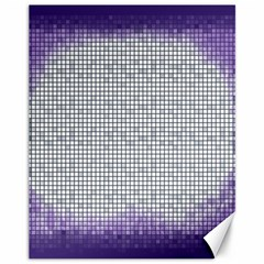 Purple Square Frame With Mosaic Pattern Canvas 11  x 14