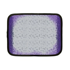 Purple Square Frame With Mosaic Pattern Netbook Case (Small)