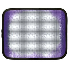 Purple Square Frame With Mosaic Pattern Netbook Case (Large)