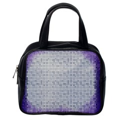 Purple Square Frame With Mosaic Pattern Classic Handbags (One Side)