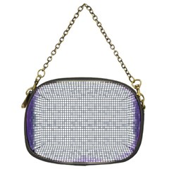 Purple Square Frame With Mosaic Pattern Chain Purses (one Side)