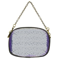 Purple Square Frame With Mosaic Pattern Chain Purses (Two Sides)