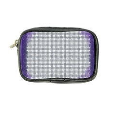 Purple Square Frame With Mosaic Pattern Coin Purse