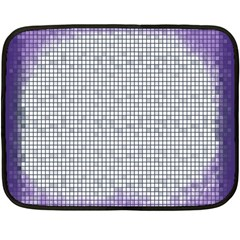 Purple Square Frame With Mosaic Pattern Double Sided Fleece Blanket (mini)
