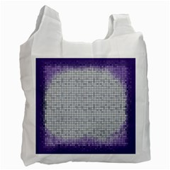Purple Square Frame With Mosaic Pattern Recycle Bag (Two Side)