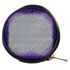 Purple Square Frame With Mosaic Pattern Mini Makeup Bags