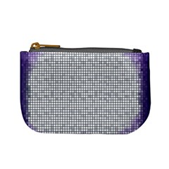Purple Square Frame With Mosaic Pattern Mini Coin Purses