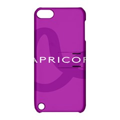 Zodiac Capricorn Purple Apple iPod Touch 5 Hardshell Case with Stand