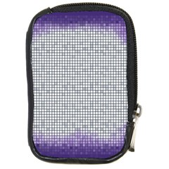 Purple Square Frame With Mosaic Pattern Compact Camera Cases