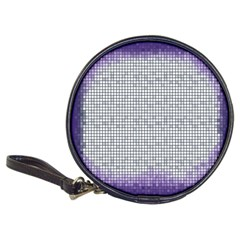 Purple Square Frame With Mosaic Pattern Classic 20 Cd Wallets