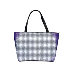 Purple Square Frame With Mosaic Pattern Shoulder Handbags