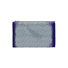 Purple Square Frame With Mosaic Pattern Cosmetic Bag (Small)