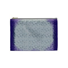 Purple Square Frame With Mosaic Pattern Cosmetic Bag (Medium)