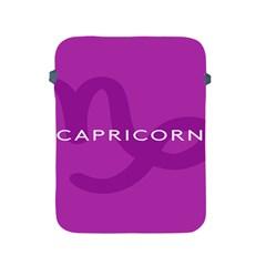 Zodiac Capricorn Purple Apple iPad 2/3/4 Protective Soft Cases