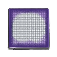 Purple Square Frame With Mosaic Pattern Memory Card Reader (square)
