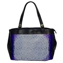 Purple Square Frame With Mosaic Pattern Office Handbags