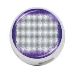 Purple Square Frame With Mosaic Pattern 4 Port Usb Hub (two Sides)