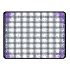 Purple Square Frame With Mosaic Pattern Fleece Blanket (Small)