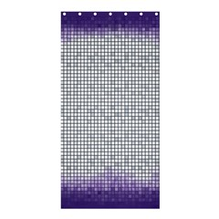Purple Square Frame With Mosaic Pattern Shower Curtain 36  x 72  (Stall)