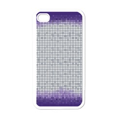 Purple Square Frame With Mosaic Pattern Apple Iphone 4 Case (white)