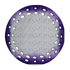 Purple Square Frame With Mosaic Pattern Ornament (Round Filigree)