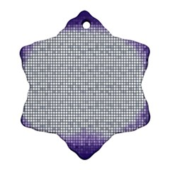 Purple Square Frame With Mosaic Pattern Ornament (Snowflake)