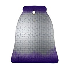 Purple Square Frame With Mosaic Pattern Bell Ornament (two Sides)