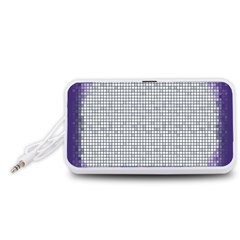 Purple Square Frame With Mosaic Pattern Portable Speaker (White)
