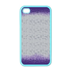 Purple Square Frame With Mosaic Pattern Apple iPhone 4 Case (Color)