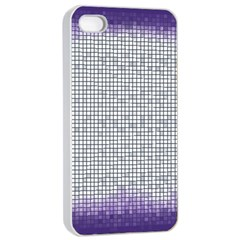 Purple Square Frame With Mosaic Pattern Apple iPhone 4/4s Seamless Case (White)