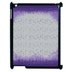 Purple Square Frame With Mosaic Pattern Apple iPad 2 Case (Black)