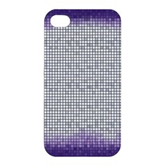 Purple Square Frame With Mosaic Pattern Apple iPhone 4/4S Hardshell Case