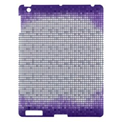 Purple Square Frame With Mosaic Pattern Apple Ipad 3/4 Hardshell Case