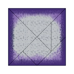 Purple Square Frame With Mosaic Pattern Acrylic Tangram Puzzle (6  X 6 )
