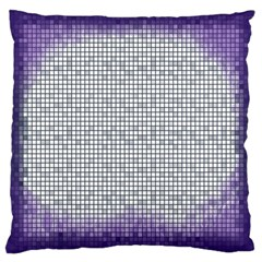 Purple Square Frame With Mosaic Pattern Large Cushion Case (Two Sides)