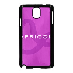 Zodiac Capricorn Purple Samsung Galaxy Note 3 Neo Hardshell Case (Black)